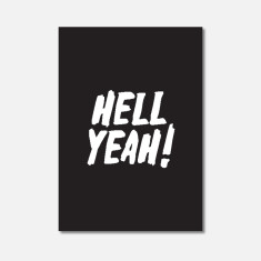 Hell Yeah Typography Mini Art Print