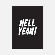 Hell Yeah Typography Mini Art Print
