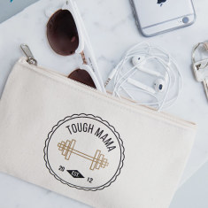 Personalised Tough Mama Canvas Pouch