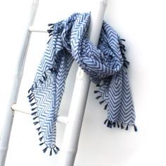 Personalised addison zig zag tassel scarf