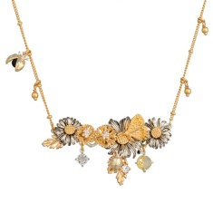 Flowers row necklace