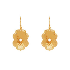 Beleza Medium Drop Earrings in 18 KT Yellow Gold Plate