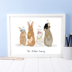 Personalised Rabbit Hip Hop Print