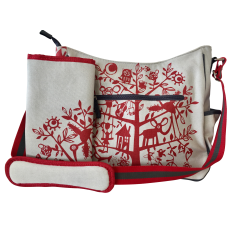 Tamelia Red Tree Nappy Bag