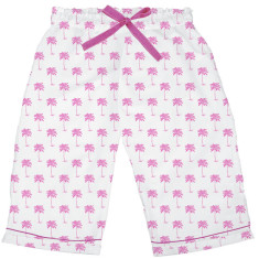 Palm Sunday pink women's sleep shorts