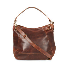 Lola Leather Buckle Hobo Tote