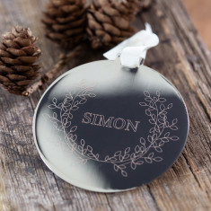 Personalised Metal Disc Wreath Decoration