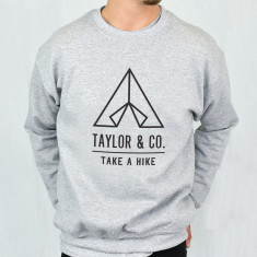 Take A Hike Personalised Adventure Men's Sweatshirt