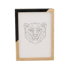 Geometric bear framed print