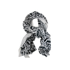 Black and white aztec cotton scarf