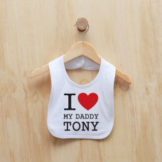 Personalised I love my bib