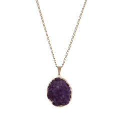Natural Amethyst Hand Crafted Pendant Necklace