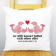 Anniversary Lobster Personalised Cushion