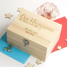Personalised Our Honeymoon Keepsake Box