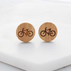 Wood cufflinks in bicycle design