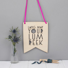 Scottish Phrase Wall Art - Lang May Yer Lum Reek