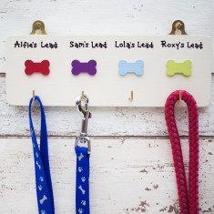 Personalised Four Dog Lead Hook