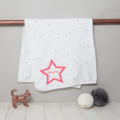 Personalised Baby Blanket Starry Design