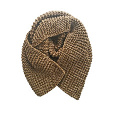 Milano chunky knit scarf in taupe or navy
