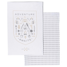 Adventure Awaits tea towels (set of 2)