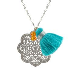 Silver Casablanca pendant
