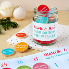 Personalised Advent Calendar Activity Tokens Jar