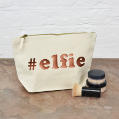 Elfie Christmas Make Up Bag