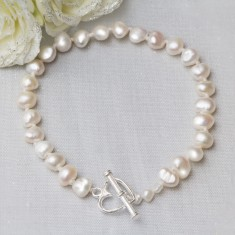 Tanja Sterling Silver And Pearl Personalised Bracelet