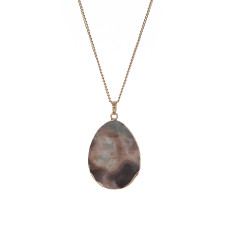 Jasper Statement Natural Pendant Necklace (XL)