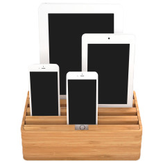 Naturals medium bamboo docking & charging station