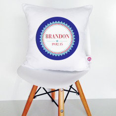 Personalised Boys' Badge Cushion Cover (2 colour options available)