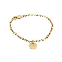 Yellow Gold filled charm bracelet with 1,2 or 3 yellow gold charms