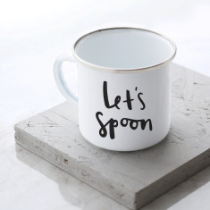 Let's Spoon Enamel Mug
