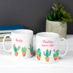 Personalised Prickly Before Coffee Cacti Mug