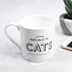 The People's Republic of Cats Bone China Mug