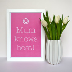 Mum Knows Best Print