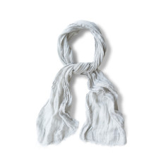 Linen Scarf Spring - Silver Dust
