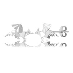 Dragon Origami Stud Earrings