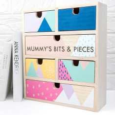 Personalised Geometric Jewellery Storage Drawers