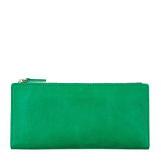 Dakota leather wallet in emerald