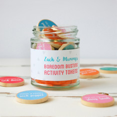 Personalised Mummy And Me Boredom Busting Activity Tokens Jar