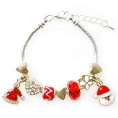 Children's Christmas gold charm bracelet