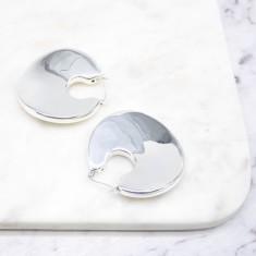 Statement Hoop Earrings Sterling silver