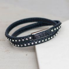 Personalised sparkle and shine wrap bracelet