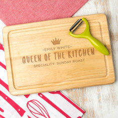 Personalised 'Queen Of The Kitchen' Chopping Board