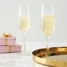 Personalised 'Will You Be My Maid Of Honour?' Champagne Flute