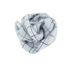 Pure linen scarf check (various colours)