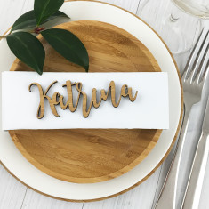 Sets of Personalised Place Setting Bamboo Names
