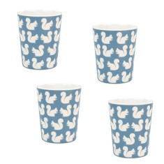 Kissing Squirrel Melamine Cups (Set of 4)
