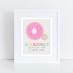 Doughnut love kids' art print